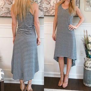 f6e69ef8528 Esti Couture High Low Dress Striped